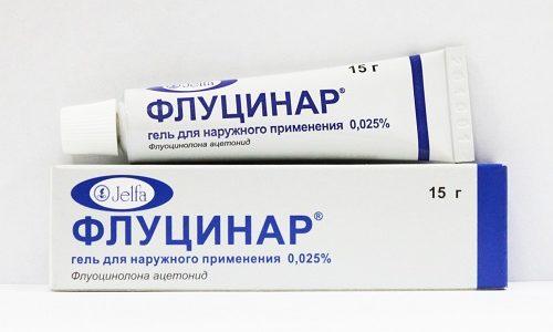 Одним из самых популярных и эффективных глюкокортикостероидных средств является «Флуцинар»