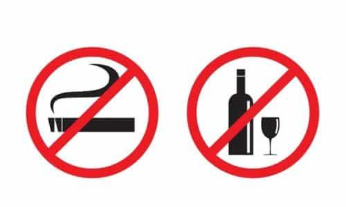За неделю до сдачи человеку необходимо отказаться от вредных привычек: алкоголя и сигарет