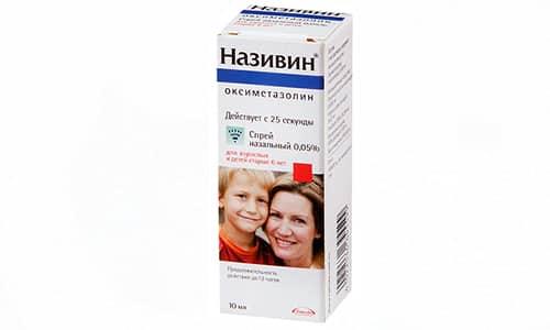 Действие Називина приводит к быстрому устранению отека, снижению экссудации, сокращению воспалительной реакции