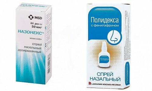 При появлении гайморита возникает вопрос, что лучше - Полидекса или Назонекс, т. к. оба медикамента обладают противовоспалительным эффектом