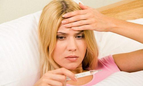 Спустя время после операции у пациента может фиксироваться повышение температуры тела