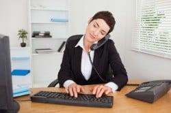 Сидячая работа - причина сколиоза