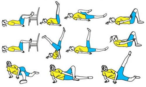 При варикозе можно выполнять лишь простые, необременительные упражнения