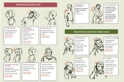 Схема проведения гимнастики для шеи
